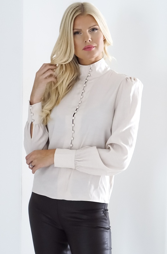 NA-KD - High Neck Button Blouse