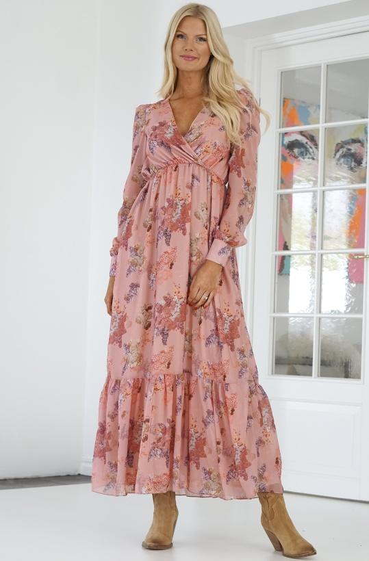 NA-KD - Floral Maxi Dress Pink