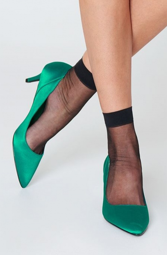 NA-KD - Midheel Satin Pumps Green
