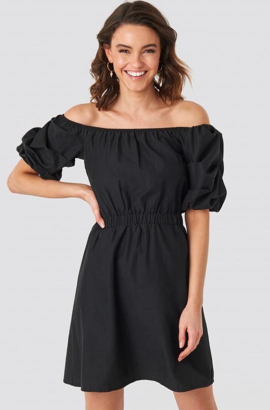 93857b8ed3ae NA-KD - Off Shoulder Puff Sleeve A-line Dress