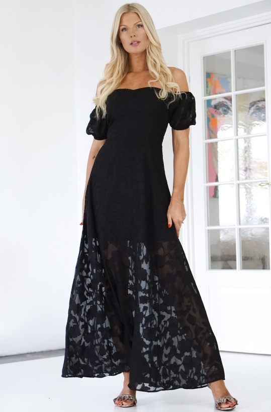NAKD - Off Shoulder Puff Sleeve Maxi Dress
