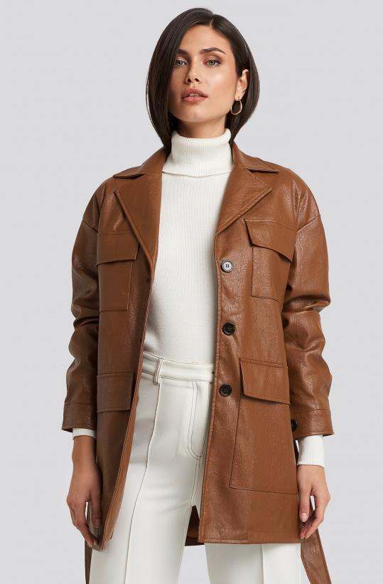 NAKD - Power Shoulder PU Jacket