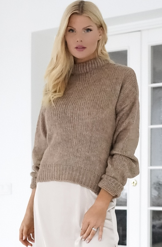 NA-KD - Round Neck Oversized Knitted Sweater