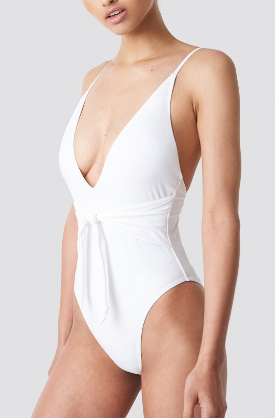 NA-KD - Tied Front Swimsuit
