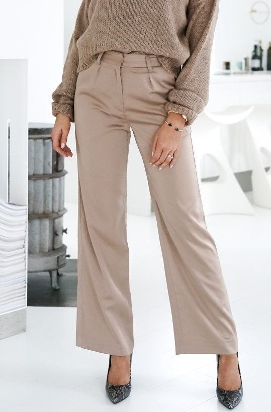 NA-KD - Wide Leg Satin Suit Pant