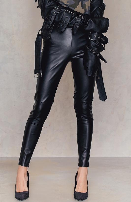 NA-KD - PU Zipper Pants