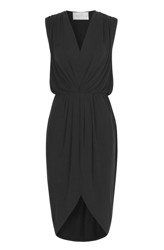 NOTES DU NORD - Dallas Drape Dress Noir