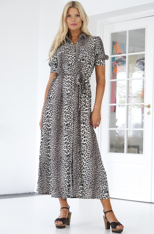 NOTES DU NORD - Lydia Leopard Maxi Dress