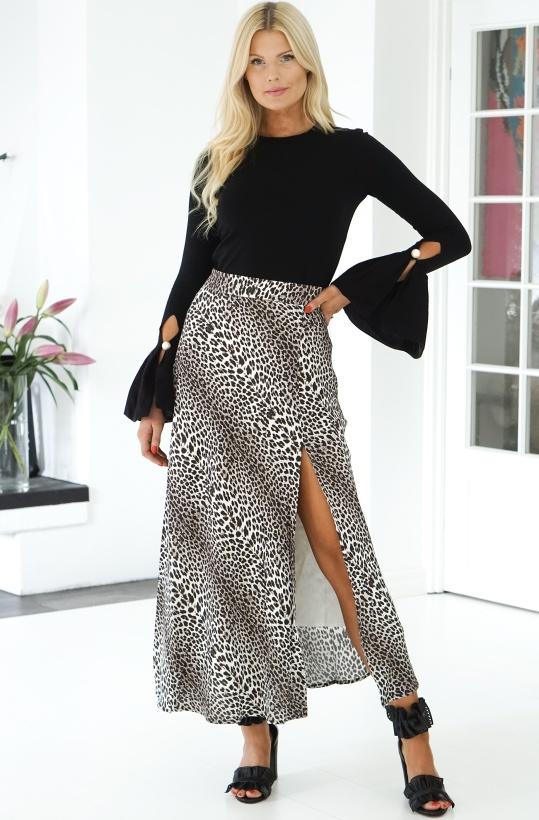 NOTES DU NORD - Lydia Leopard Skirt