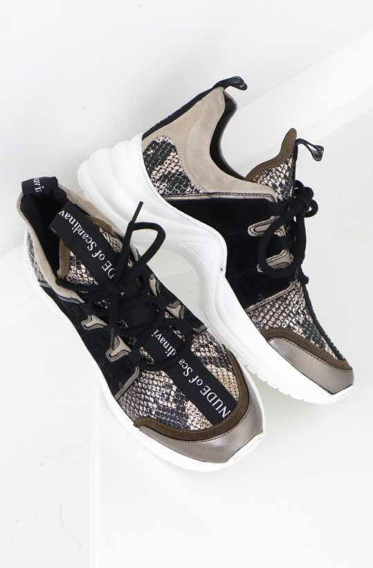 NUDE OF SCANDINAVIA - Joy Sneaker Snake Mix