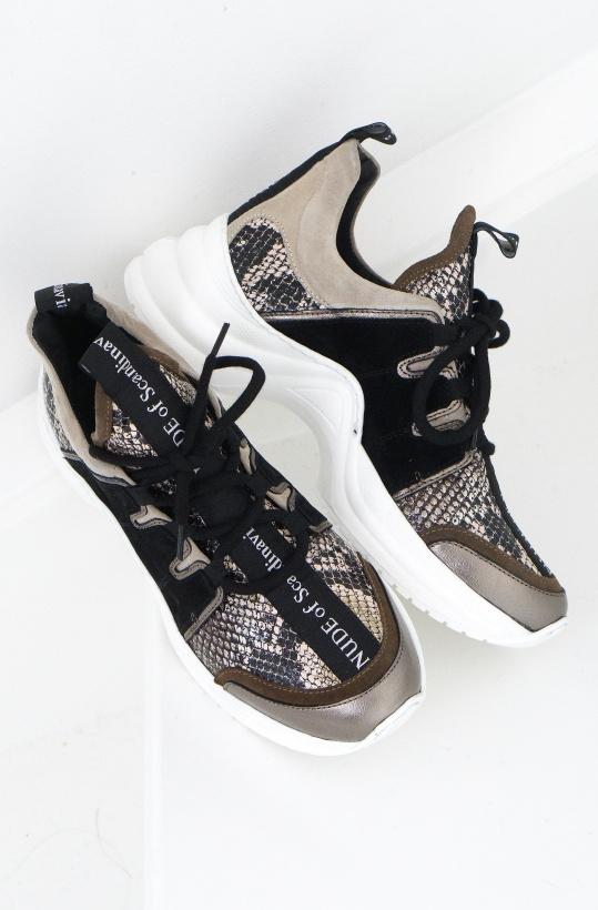 NUDE OF SCANDINAVIA - Joy Sneaker Snake Mix