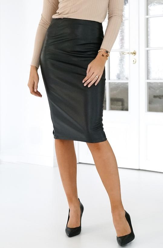NAKD - Faux Leather Midi Skirt