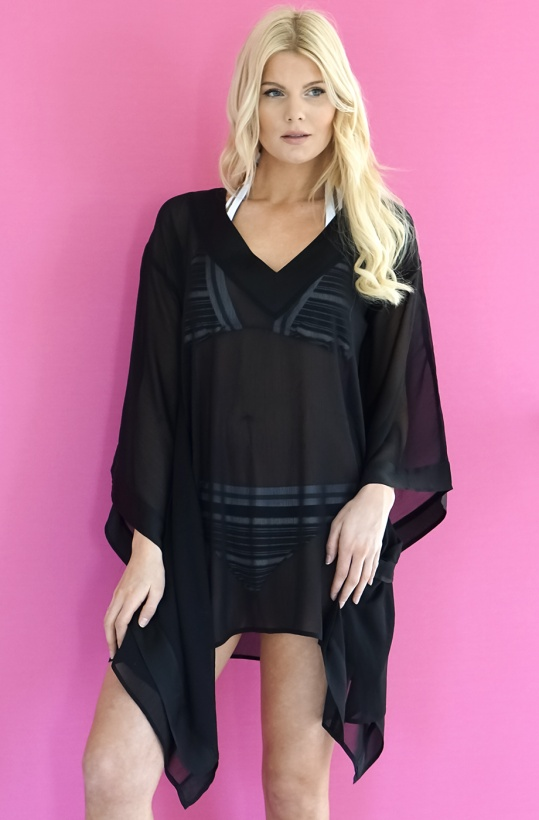 Summer Diva Tunic Black