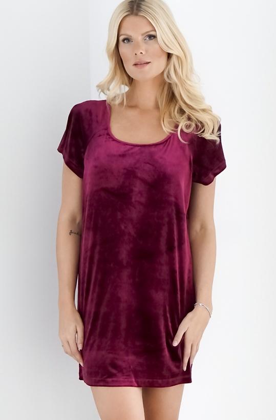 PLAIN VANILLA - Velvet Dress Short Sleeve