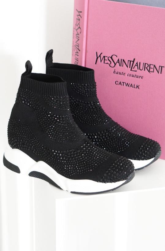 PEDRO MIRALLES - Strass Sock Sneaker