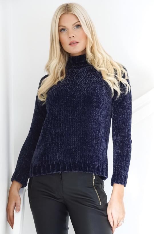 RUT & CIRCLE - Chenille Polo Knit