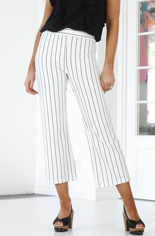 RUT & CIRCLE - Culotte Stripe Pant
