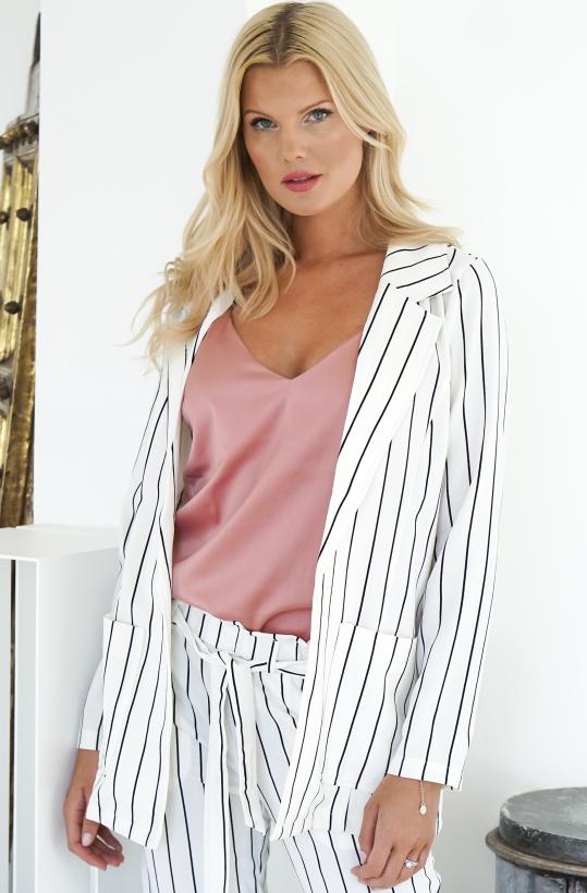 RUT & CIRCLE - Ofelia Striped Blazer