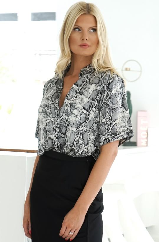 RUT & CIRCLE  Lea Snake Shirt