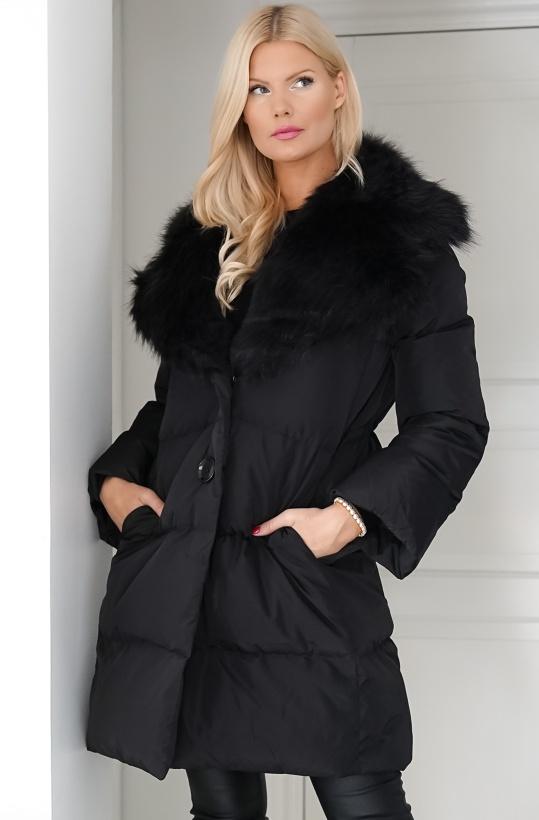 SAND - Aria Fur Keres Coat