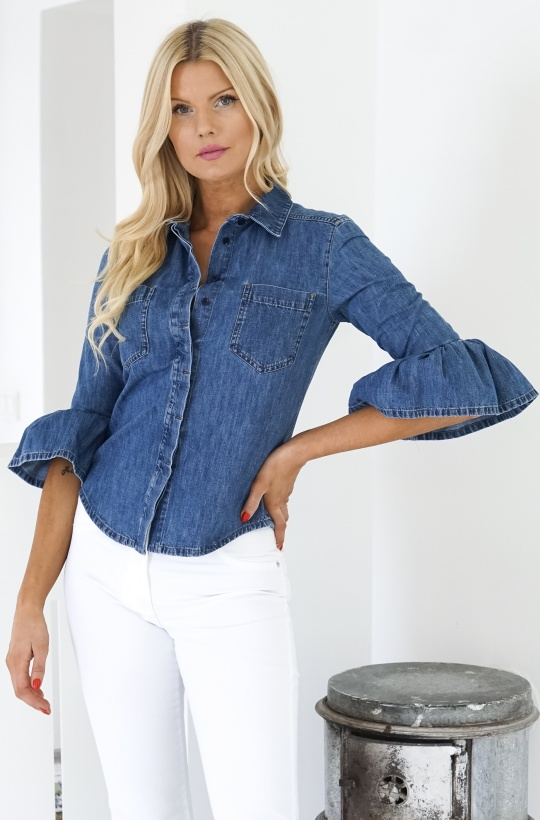 SPORTMAX - TENNIS Denim Skjorta