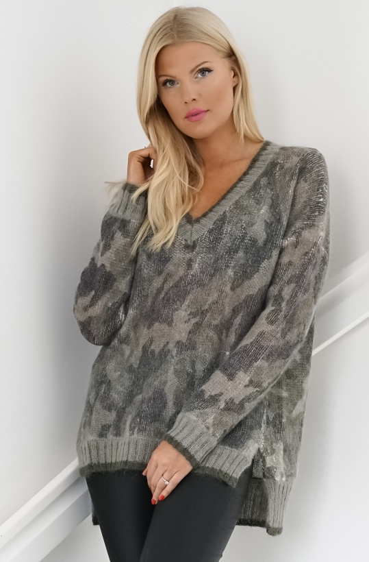 TWINSET - Camo Mohair Knitted Sweater