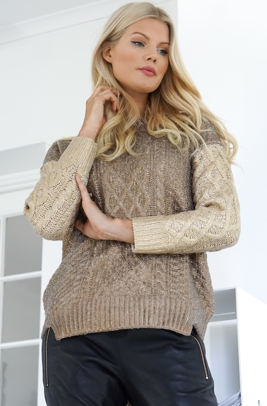 TWINSET - Gold Knitted Sweater Short