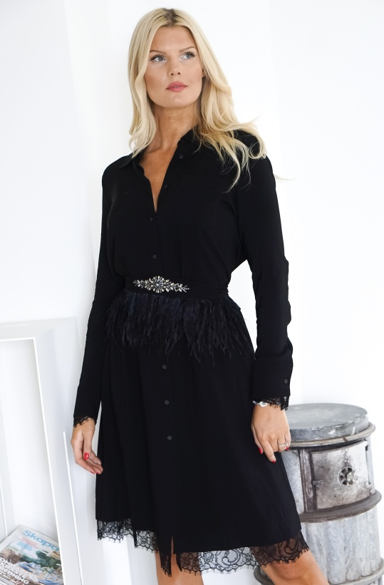 TWINSET - Georgette Shirt Dress with Belt