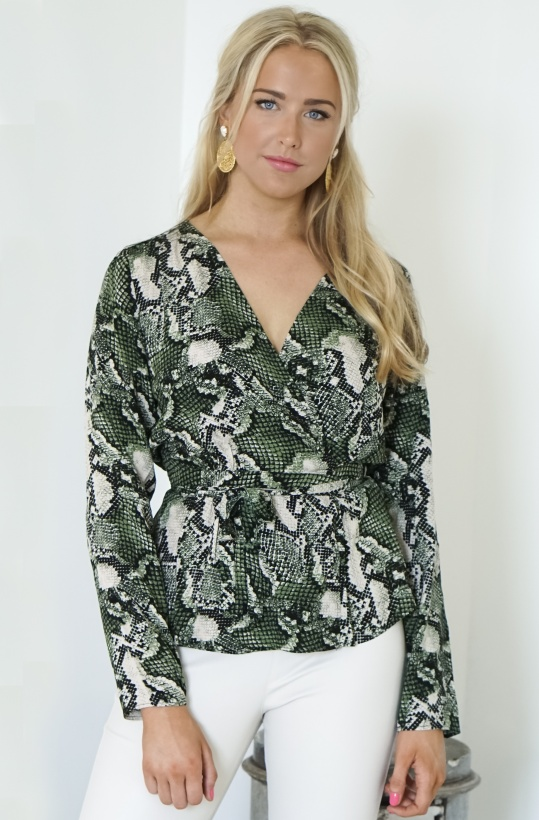 TWIST & TANGO - Isabel Blouse Green Snake