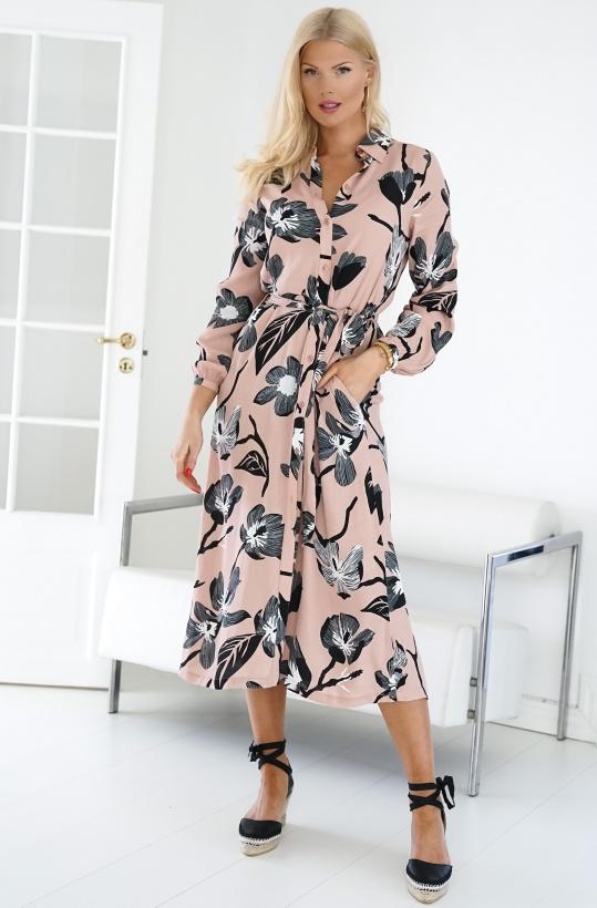 TWIST & TANGO - Tess Dress Nude Flower