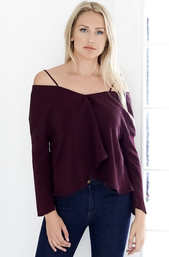 VIKTORIA CHAN- Sara Off Shoulder Top