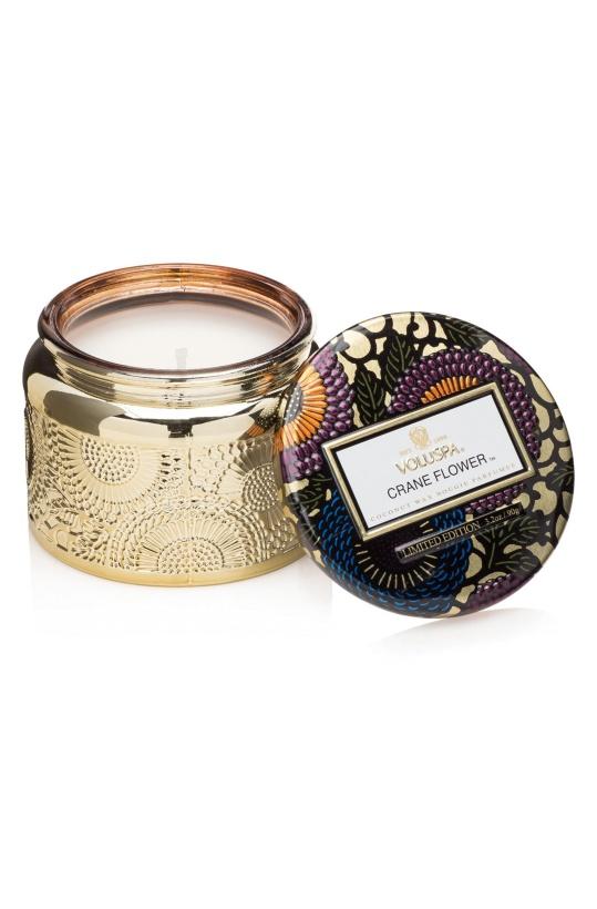 VOLUSPA - Crane Flower Small Glass Jar Candle