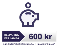 Lågenergi Stav E27, 7W-827 (=40W)