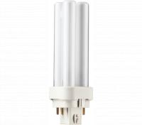 Kompaktlysrör PL-C D/E 4-stift G24q-1, 10W-840