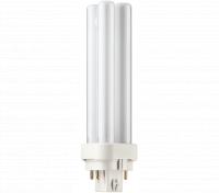 Kompaktlysrör PL-C D/E 4-stift G24q-1, 13W-827