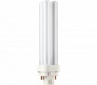 Kompaktlysrör PL-C D/E 4-stift G24q-2, 18W-827