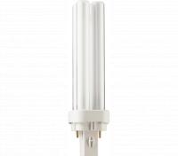 Kompaktlysrör PL-C D 2-stift G24d-1, 13W-827