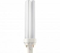 Kompaktlysrör PL-C D 2-stift G24d-2, 18W-827