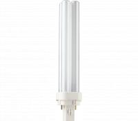 Kompaktlysrör PL-C D 2-stift G24d-3, 26W-827