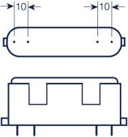 Kompaktlysrör PL-F 4-stift 2G10, 36W-830