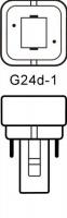 Philips LED G24d-1 Kompaktlysrör 4,5W / 830 (Ersätter: 10W & 13W G24d-1)