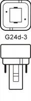 Philips LED G24d-3 Kompaktlysrör 8,5W / 830 (Ersätter: 26W G24d-3)