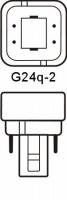 Philips LED G24q-2 Kompaktlysrör 6,5W / 840 (Ersätter: 18W G24q-2)
