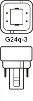 Philips LED G24q-3 Kompaktlysrör 9W / 830 (Ersätter: 26W G24q-3)