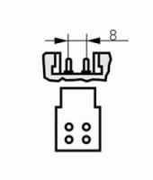 Kompaktlysrör 2D, 16W-830 4-pin (GR10q)