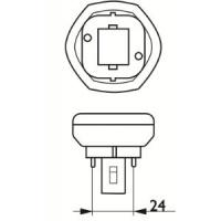 Kompaktlysrör PL-T 2-stift GX24d-1, 13W-830