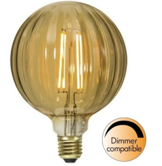 Globlampa 2,5W Ø125 Dimbar Räfflad LED 160lm E27