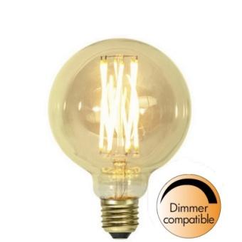 Globlampa 3,7W Dimbar Ø95 Vintage Gold LED 240lm E27