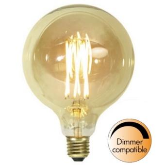 Globlampa 3,7W Dimbar Ø125 Vintage Gold LED 240lm E27