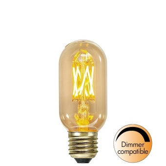 Rörlampa 3,7W Dimbar LED Vintage Gold 240lm E27
